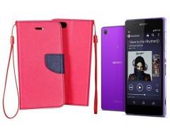 Manager dėklas Sony Xperia Z2 mobiliesiems telefonams rožinės spalvos
