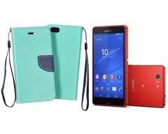 Manager dėklas Sony Xperia Z3 Compact mobiliesiems telefonams mėtinės spalvos