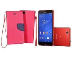 Manager dėklas Sony Xperia Z3 Compact mobiliesiems telefonams rožinės spalvos