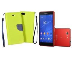 Manager dėklas Sony Xperia Z3 Compact mobiliesiems telefonams salotinės spalvos