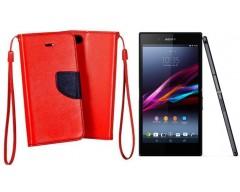 Manager dėklas Sony Xperia Z3+ mobiliesiems telefonams raudonos spalvos