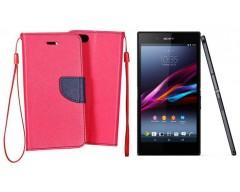 Manager dėklas Sony Xperia Z3+ mobiliesiems telefonams rožinės spalvos