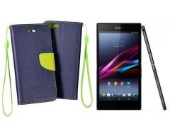 Manager dėklas Sony Xperia Z3+ mobiliesiems telefonams tamsiai mėlynos spalvos