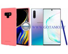 Mercury Soft Feeling dėklas nugarėlė Samsung Galaxy Note 10 telefonui rožinės spalvos