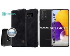 Nillkin Qin odinis dėklas Samsung Galaxy A72 telefonui juodos spalvos