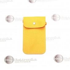 Pouch universalus dėklas mobiliems telefonams geltonos spalvos