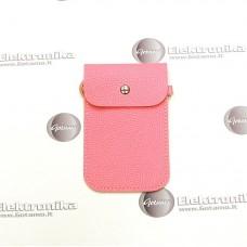 Pouch universalus dėklas mobiliems telefonams šviesiai rožinės spalvos
