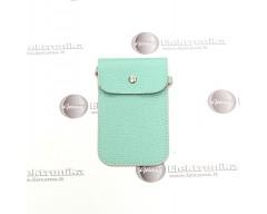 Pouch universalus dėklas mobiliems telefonams žydros spalvos