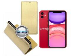 Re-Grid magnetinis dėklas Apple iPhone 11 telefonams aukso spalvos