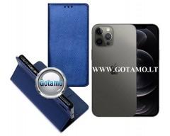 Re-Grid magnetinis dėklas Apple iPhone 12, Apple iPhone 12 Pro mobiliesiems telefonams mėlynos spalvos