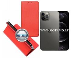 Re-Grid magnetinis dėklas Apple iPhone 12, Apple iPhone 12 Pro mobiliesiems telefonams raudonos spalvos