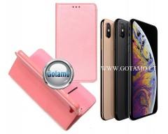 Re-Grid magnetinis dėklas Apple iPhone X Xs telefonams šviesiai rožinės spalvos