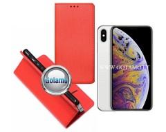 Re-Grid magnetinis dėklas Apple iPhone Xs Max telefonams raudonos spalvos