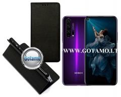 Re-Grid magnetinis dėklas Huawei Honor 20 Pro mobiliesiems telefonams juodos spalvos