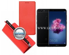 Re-Grid magnetinis dėklas Huawei P Smart telefonams raudonos spalvos