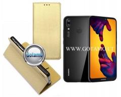 Re-Grid magnetinis dėklas Huawei P20 Lite telefonams aukso spalvos