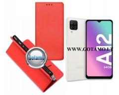 Re-Grid magnetinis dėklas Samsung Galaxy A12 Samsung Galaxy M12 telefonams raudonos spalvos