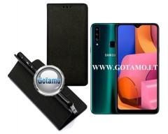 Re-Grid magnetinis dėklas Samsung Galaxy A20s telefonams juodos spalvos