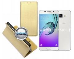 Re-Grid magnetinis dėklas Samsung Galaxy A5 (2016) telefonams aukso spalvos