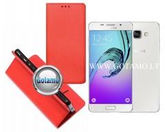 Re-Grid magnetinis dėklas Samsung Galaxy A5 (2016) telefonams raudonos spalvos