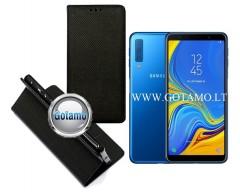 Re-Grid magnetinis dėklas Samsung Galaxy A7 (2018) telefonams juodos spalvos