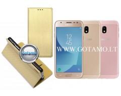 Re-Grid magnetinis dėklas Samsung Galaxy J3 (2017) telefonams aukso spalvos