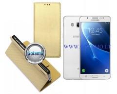Re-Grid magnetinis dėklas Samsung Galaxy J5 (2016) telefonams aukso spalvos
