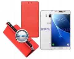 Re-Grid magnetinis dėklas Samsung Galaxy J5 (2016) telefonams raudonos spalvos