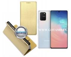 Re-Grid magnetinis dėklas Samsung Galaxy S10 Lite telefonams aukso spalvos
