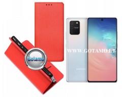 Re-Grid magnetinis dėklas Samsung Galaxy S10 Lite telefonams raudonos spalvos
