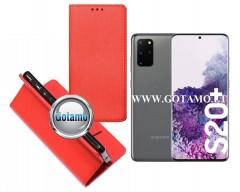 Re-Grid magnetinis dėklas Samsung Galaxy S20+ telefonams raudonos spalvos