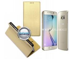 Re-Grid magnetinis dėklas Samsung Galaxy S6 edge telefonams aukso spalvos