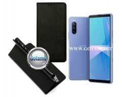 Re-Grid magnetinis dėklas Sony Xperia 10 III, Sony Xperia 10 III Lite telefonams juodos spalvos