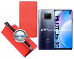 Re-Grid magnetinis dėklas Xiaomi Mi 10T Lite 5G telefonams raudonos spalvos