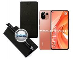 Re-Grid magnetinis dėklas Xiaomi Mi 11 Lite, Xiaomi Mi 11 Lite 5G telefonams juodos spalvos