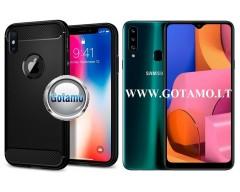 Siege dėklas nugarėlė Samsung Galaxy A20s mobiliesiems telefonams juodos spalvos