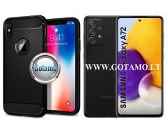 Siege dėklas nugarėlė Samsung Galaxy A72 mobiliesiems telefonams juodos spalvos