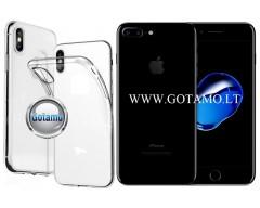 Skin silikoninis dėklas 2MM storio Apple iPhone 7 Plus 8 Plus telefonams