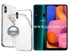 Skin silikoninis dėklas Samsung Galaxy A20s telefonams