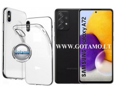 Skin silikoninis dėklas Samsung Galaxy A72 telefonams