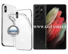 Skin silikoninis dėklas Samsung Galaxy S21 Ultra telefonams