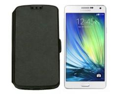 Slim Diary dėklas Samsung Galaxy A7 mobiliesiems telefonams juodos spalvos