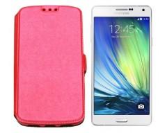 Slim Diary dėklas Samsung Galaxy A7 mobiliesiems telefonams rožinės spalvos