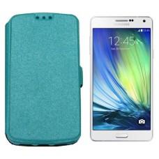 Slim Diary dėklas Samsung Galaxy A7 mobiliesiems telefonams žydros spalvos