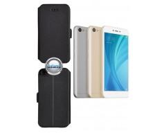 Slim Diary dėklas Xiaomi Redmi Note 5A telefonams juodos spalvos