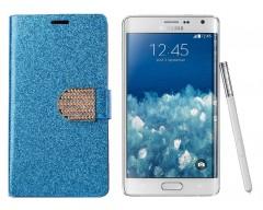 Sonata Diary Royal dėklas Samsung Galaxy Note edge mobiliesiems telefonams žydros spalvos