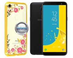 Spring dėklas nugarėlė Samsung Galaxy J6 (2018) telefonams aukso spalvos