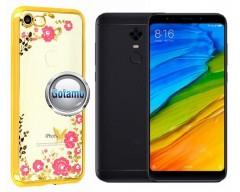 Spring dėklas nugarėlė Xiaomi Redmi 5 Plus telefonams aukso spalvos