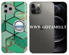 Tiles dėklas nugarėlė Apple iPhone 12, Apple iPhone 12 Pro telefonams mėtinės spalvos