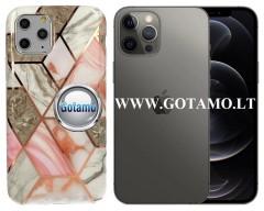 Tiles dėklas nugarėlė Apple iPhone 12, Apple iPhone 12 Pro telefonams pilkos spalvos